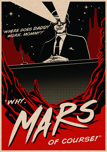 """""""Mars of Course"""" poster"""