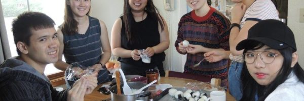 Members of the Taiwanese Cultural Society prepare traditional rice balls