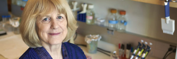 Mary-Claire King poses for a portrait at University of Washington in Seattle