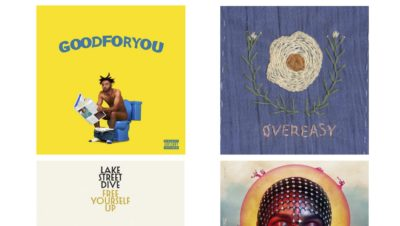 Four album covers
