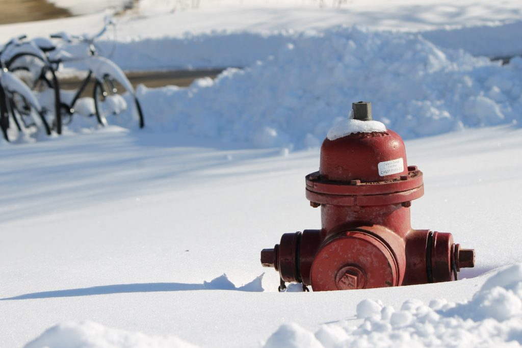 Fire hydrant in the snow